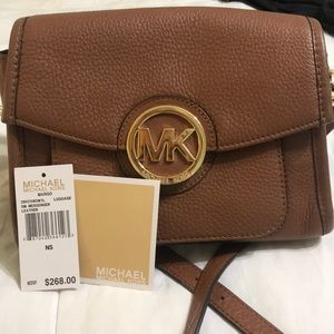 UWT Michael Kors Brown Leather Crossbody
